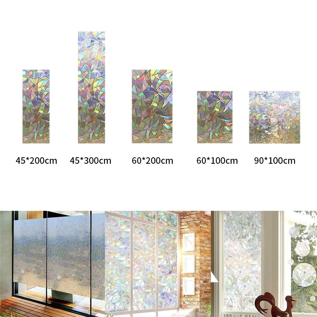 3D Decorative Window Privacy Film Stained Glass Window Sticker,Window Self-adhesive Static Glass Tint Film
