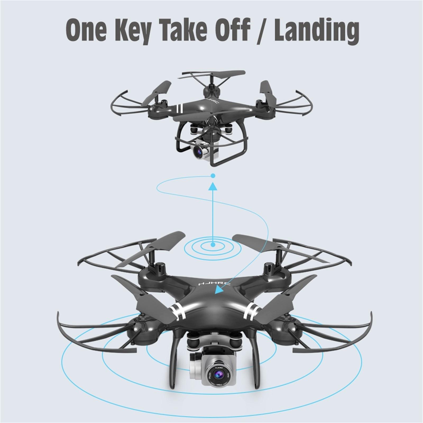 H003837e948ef4d93b047a0842dcd927e6 - Hjhrc Four-axis Aerial Photography Aircraft Drone With Camera Hd 4k Wifi Fpv Foldable Drone Height Holding Headless Quadcopter