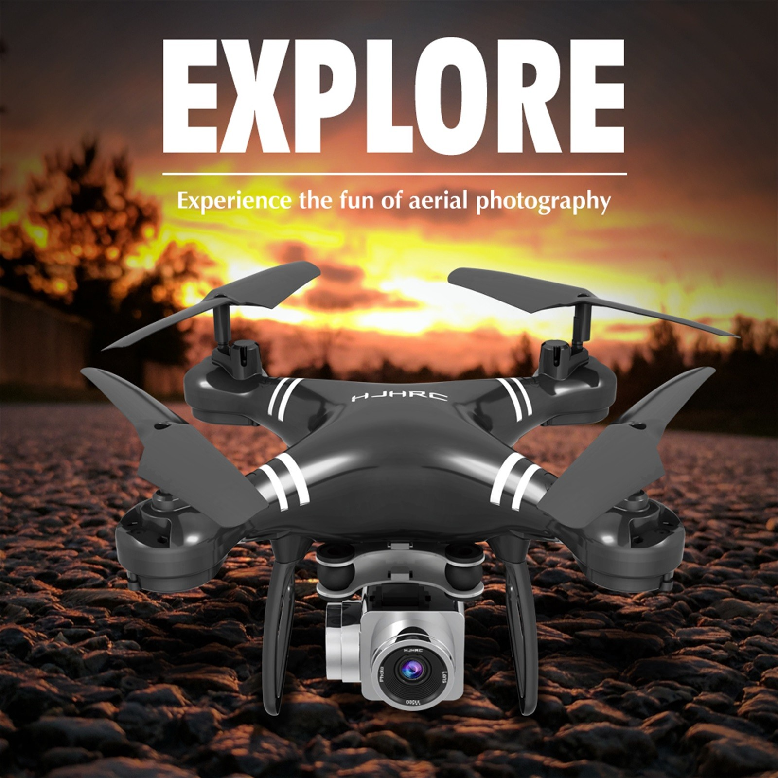 H03e54f1631d544919cb4e5f9e86166df2 - Hjhrc Four-axis Aerial Photography Aircraft Drone With Camera Hd 4k Wifi Fpv Foldable Drone Height Holding Headless Quadcopter