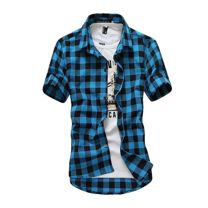 Mens Flannel Check Shirt