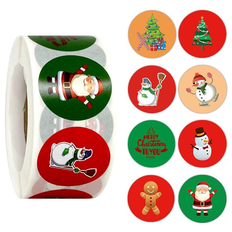 adesivos de papel kawaii para decoração de casa, 500 peças rolo