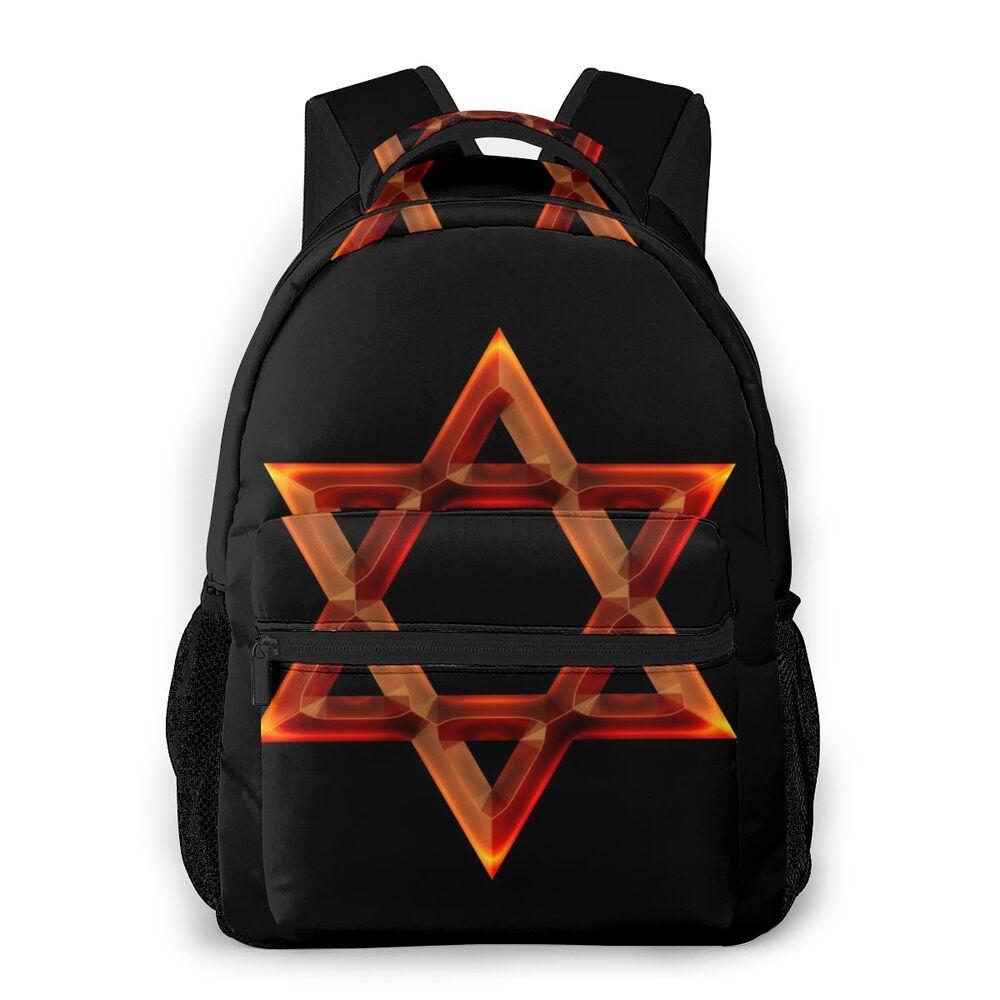 Nova tendência mochila estrela vermelha do rei