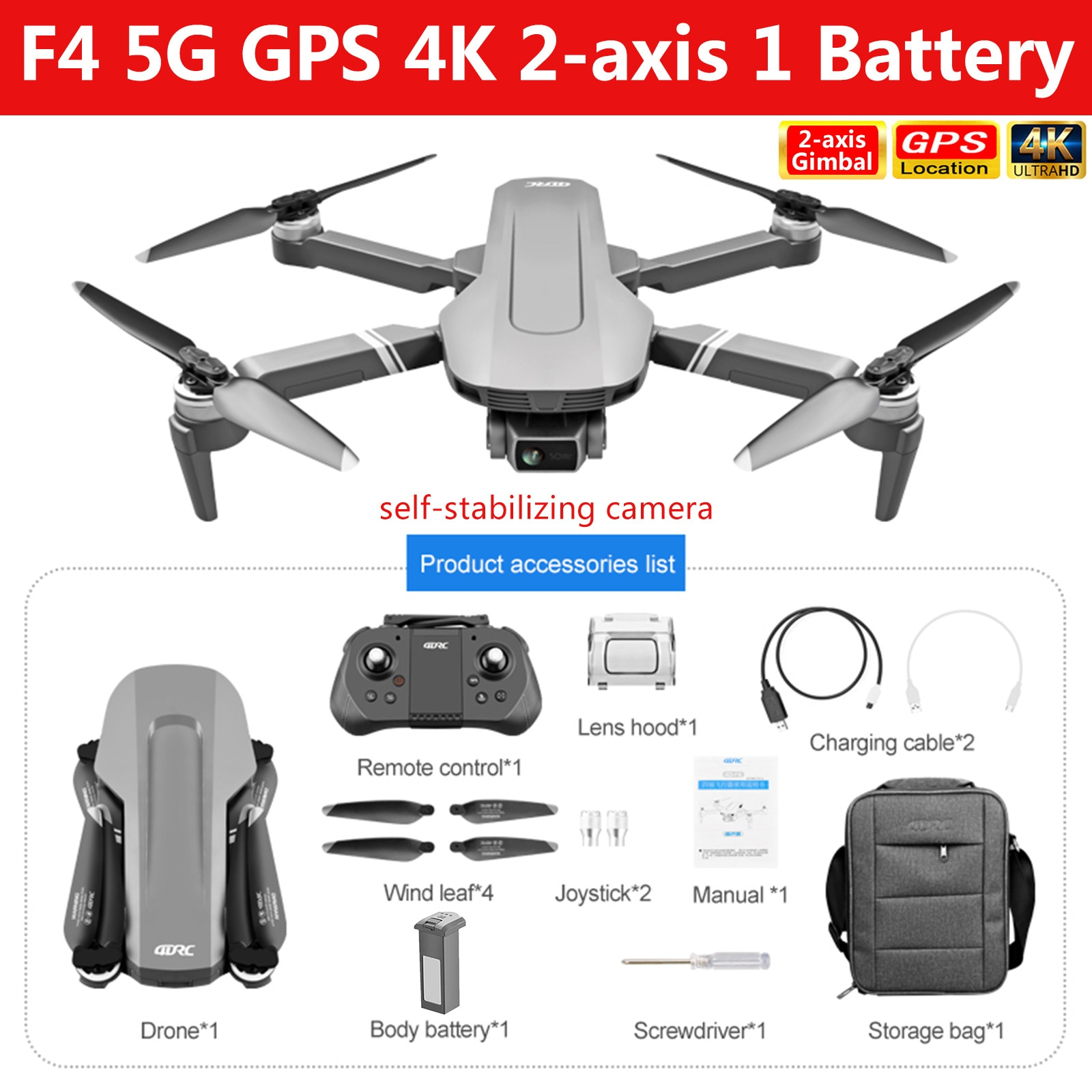 H0b67da21456647fd810163a7155a9dc77 - F4 Drone GPS 5G 4k HD camera Drone Mechanical 2-Axis Gimbal Camera Brushless Power Flight 25M RC Drone Kid Toy GIft