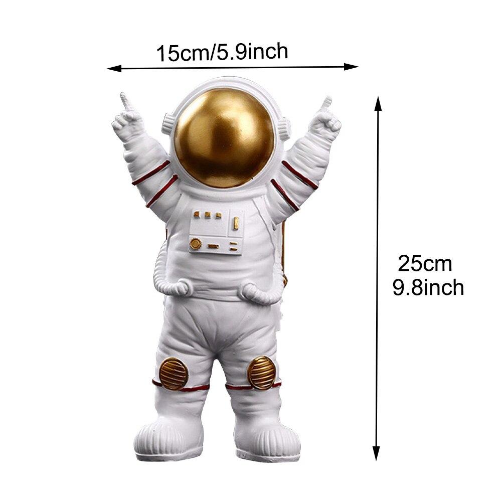 menino desktop astronauta estátuas resina escultura carrinho