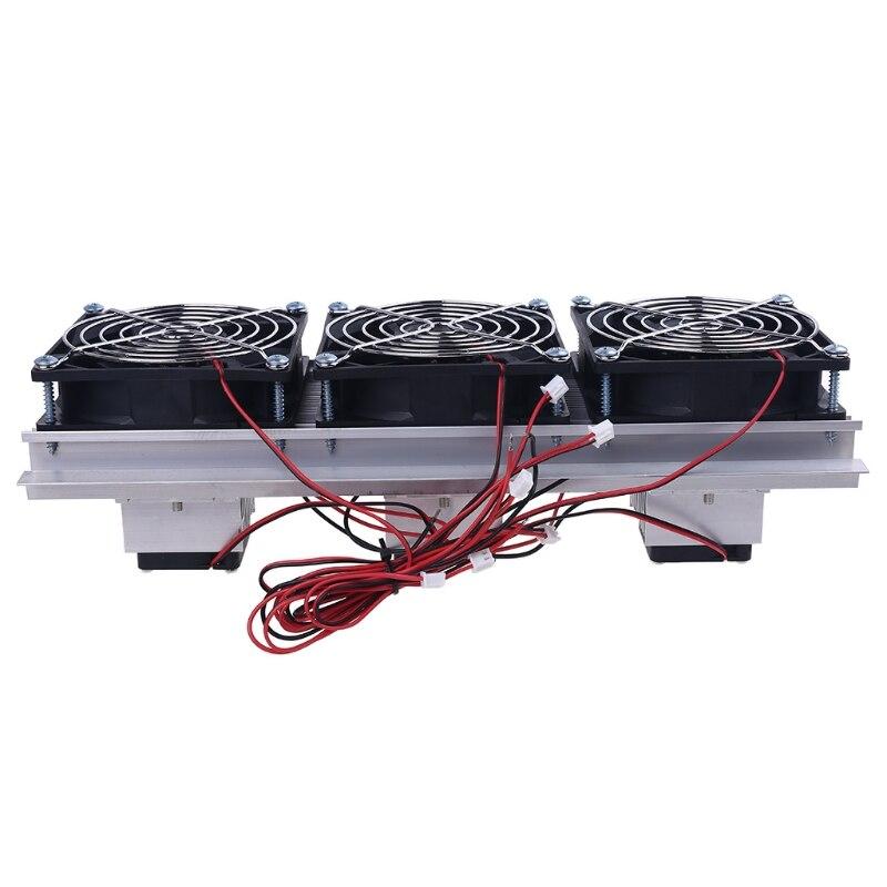 Tec semicondutor eletrônico refrigeração cooler triplo ventilador