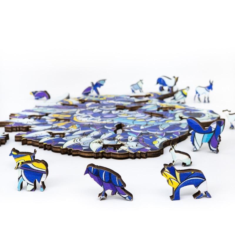 Q9qb disentanglement puzzle animal jigsaw casa decorativa pintura diy para crianças