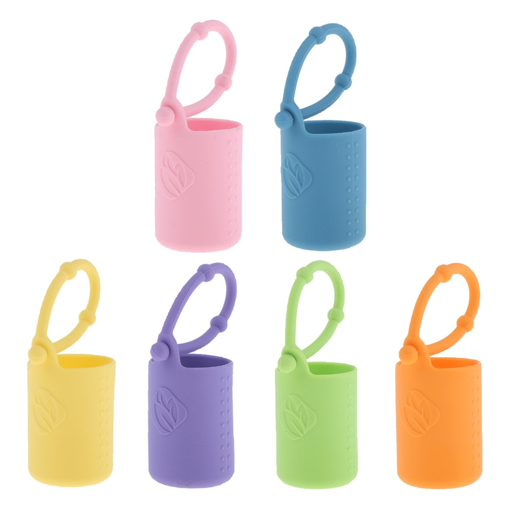 15ml Essential Oil Bottle Silicone Roller Holder Sleeve Cover for Bag Purse