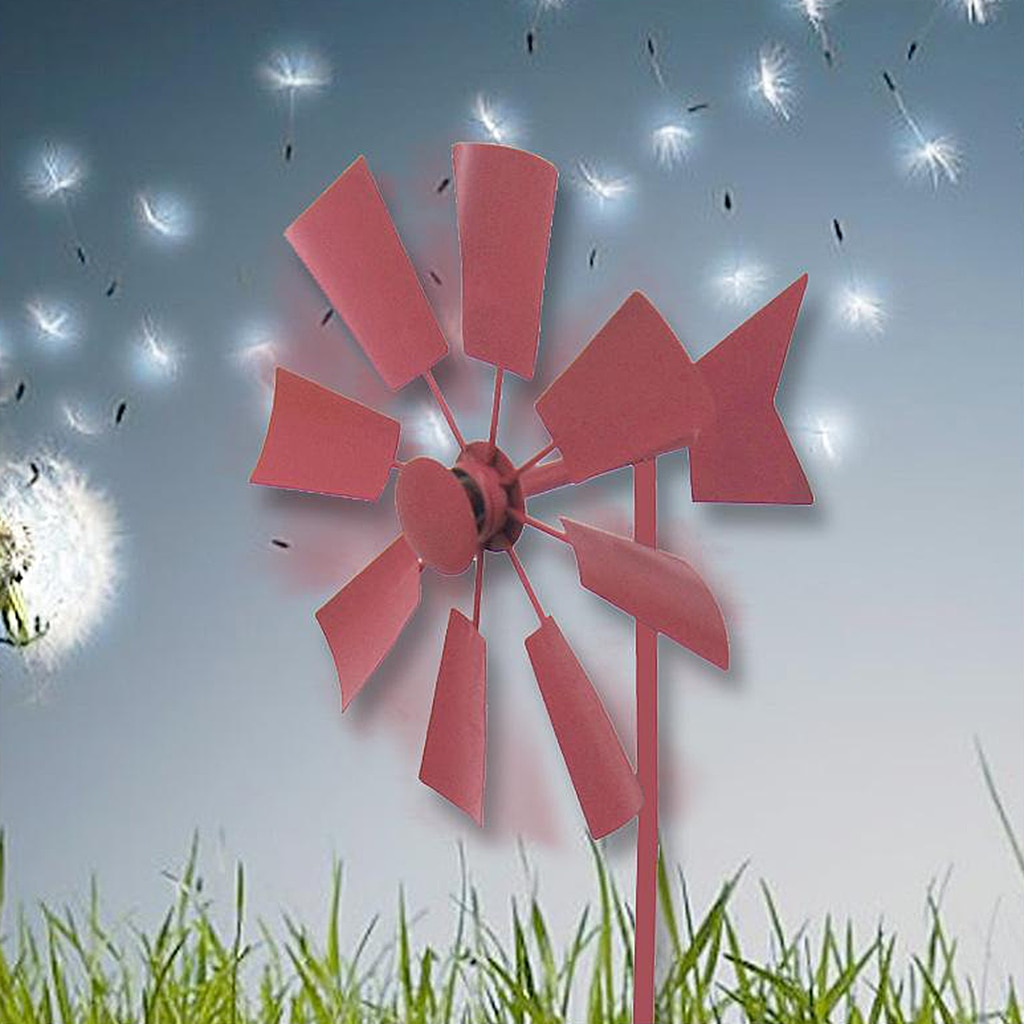 Iron Windmills Wind Spinner Toys Outdoors Lawn Field Yard Patio Decoration