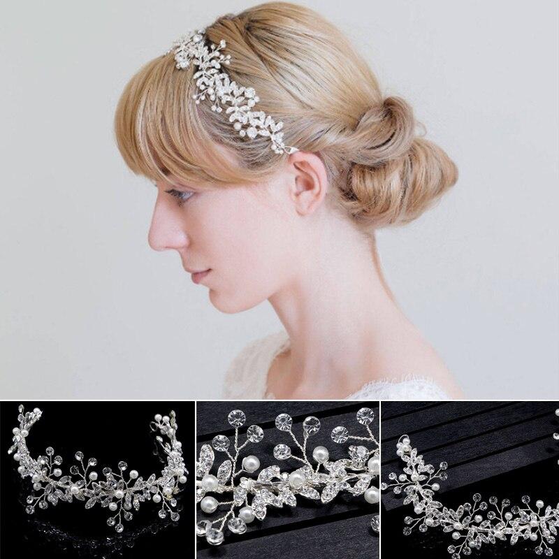 Moda nova artesanal cristal strass casamento cabeça
