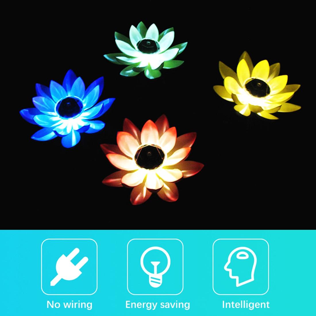 Flor de lótus forma lagoa lanterna luz