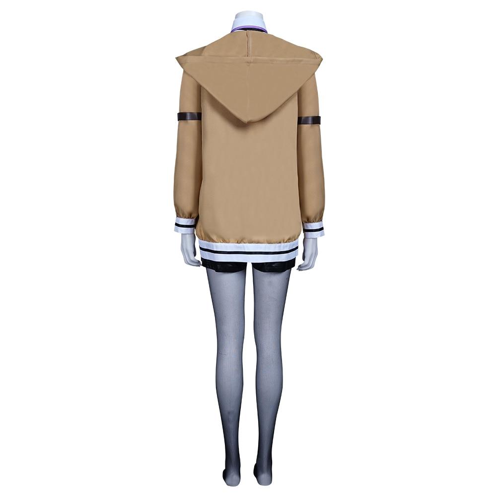 Steins portão 0 makise kurisu cosplay traje