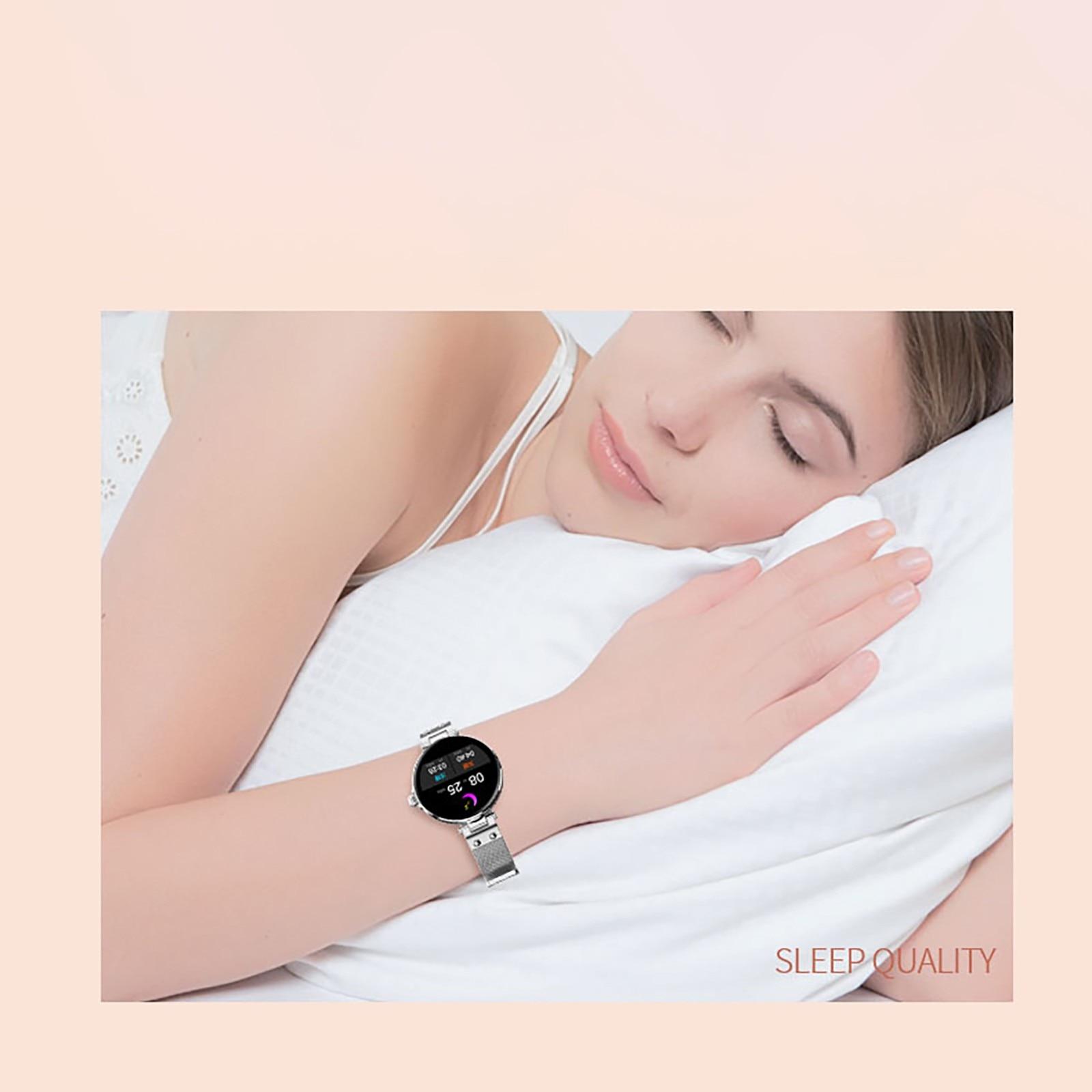 Nssd senhoras relógio inteligente temperatura do corpo