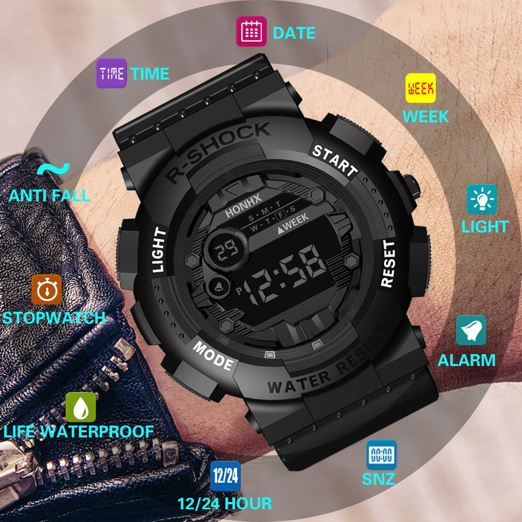 Mens Digital LED Watch Beautiful Digital Sport Watch 2021