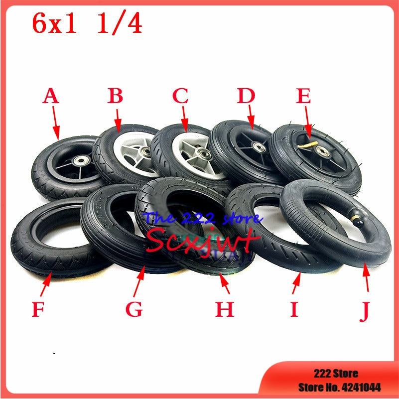 6 Inches Inner Tube Tire Electric Scooter Rubber Black 1//4 Thickened 6x1 Tyres
