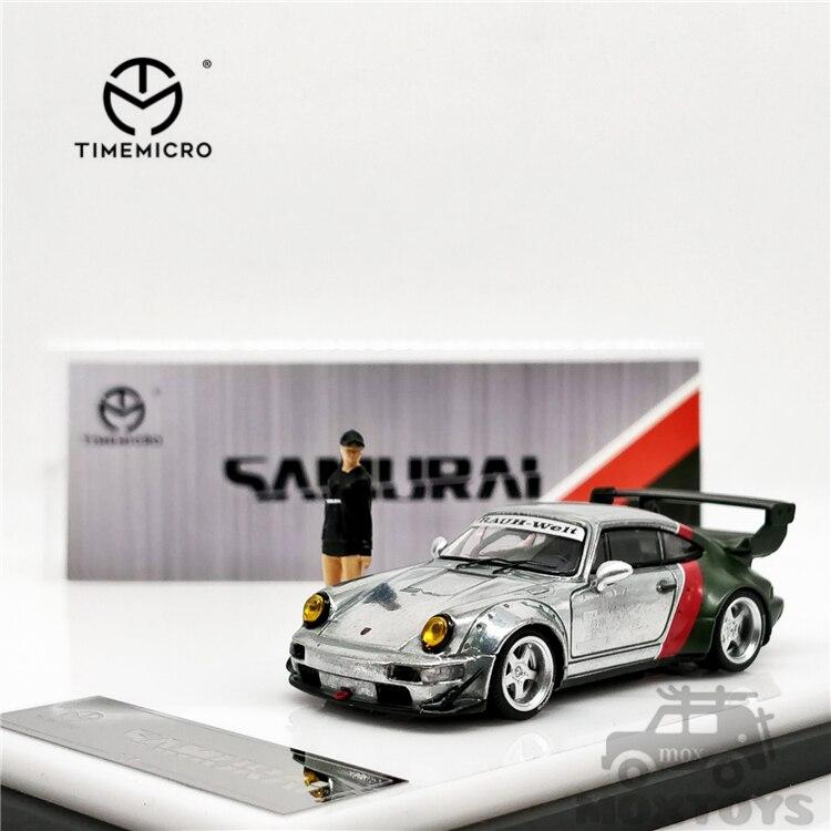 Timemicro-carro cibernético samurai comum luxuosos rwb 964, carros de modelo, 1:64 rwb