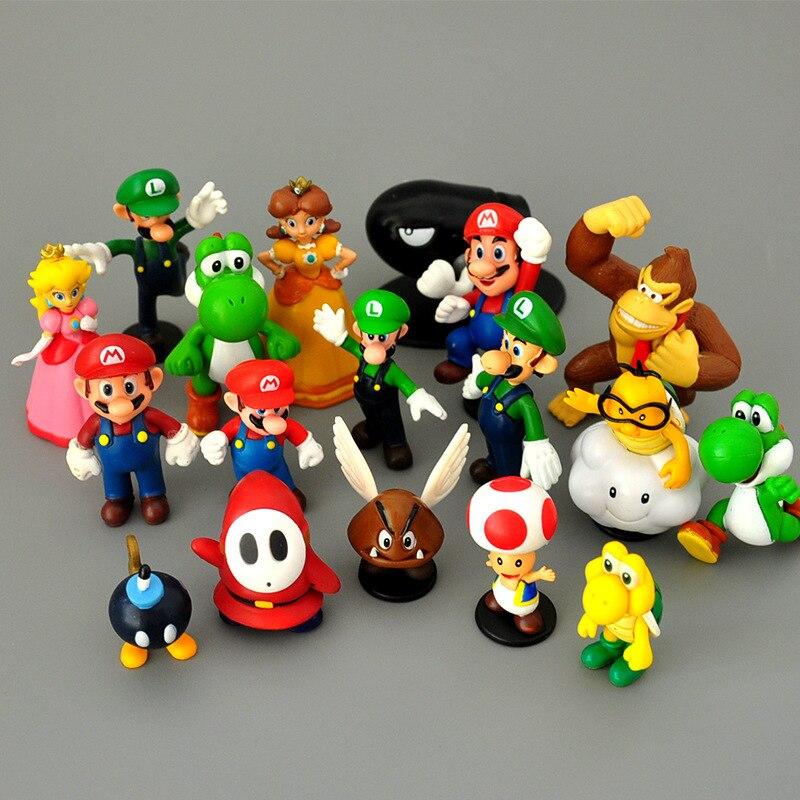 Miniaturas Super Mario 18pcs/set