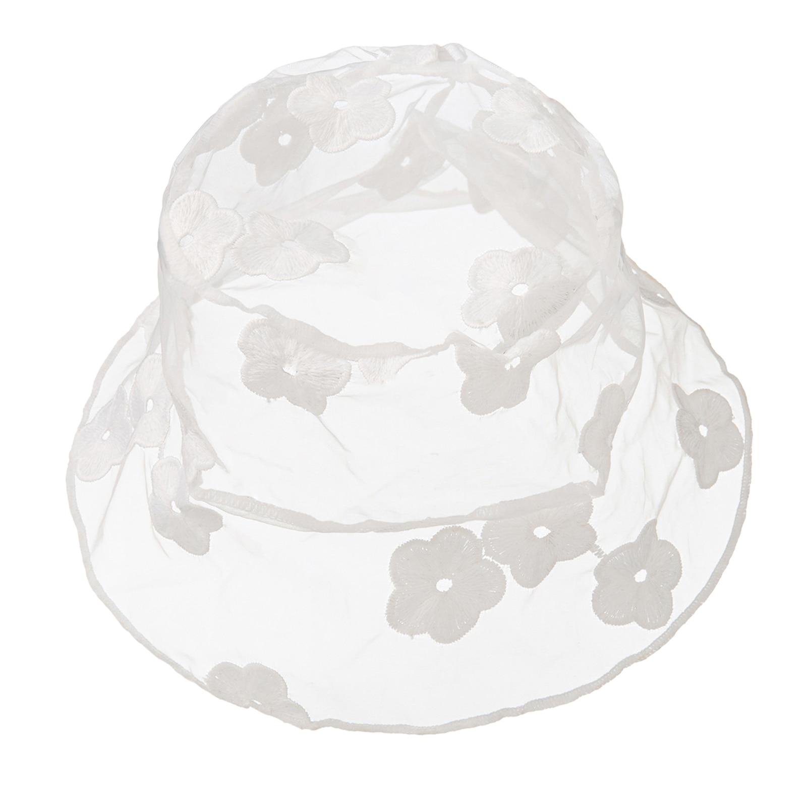 Lace Hat for Women Flower Bucket Hat Floppy Hollow Summer Fisherman Sun Hats