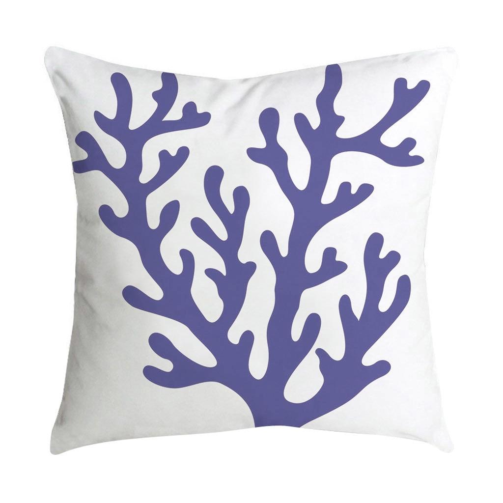 Housse de coussin décorative en porcelaine bleue et blanche, 4 pièces, housse de coussin de canapé de luxe de haute qualité, hôtel, maison, 18  14