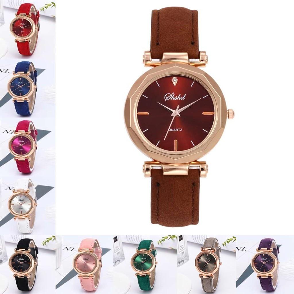 Women Analog Luxury Crystal Wrist Watch Automatic Luminous