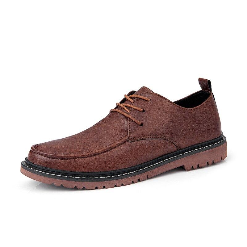 sapatos de couro retro sapatos masculinos tendência
