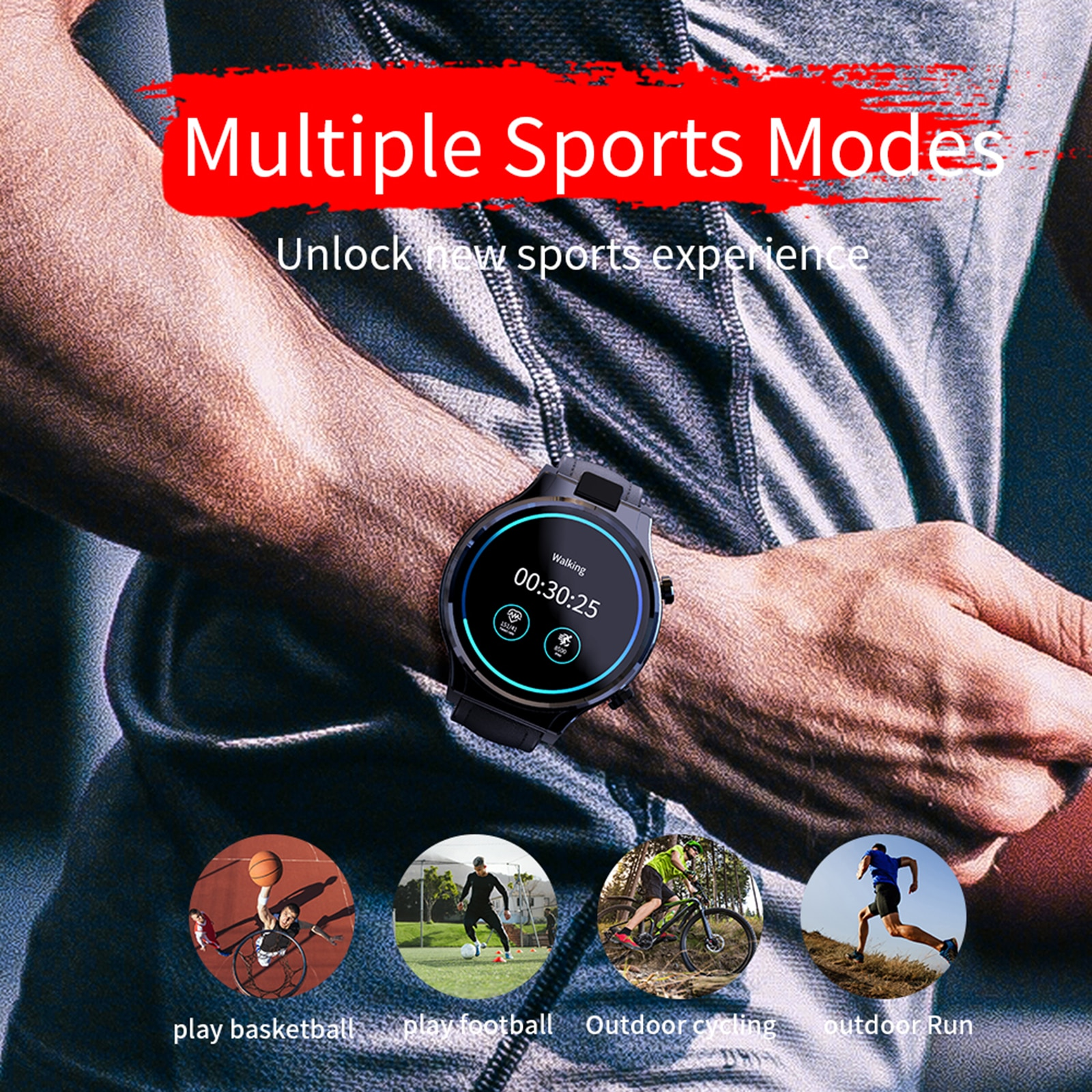 Smartwatches Rotating 13MP Camera 2.1inch Display Full Round Smart Watch Fits for Men Women