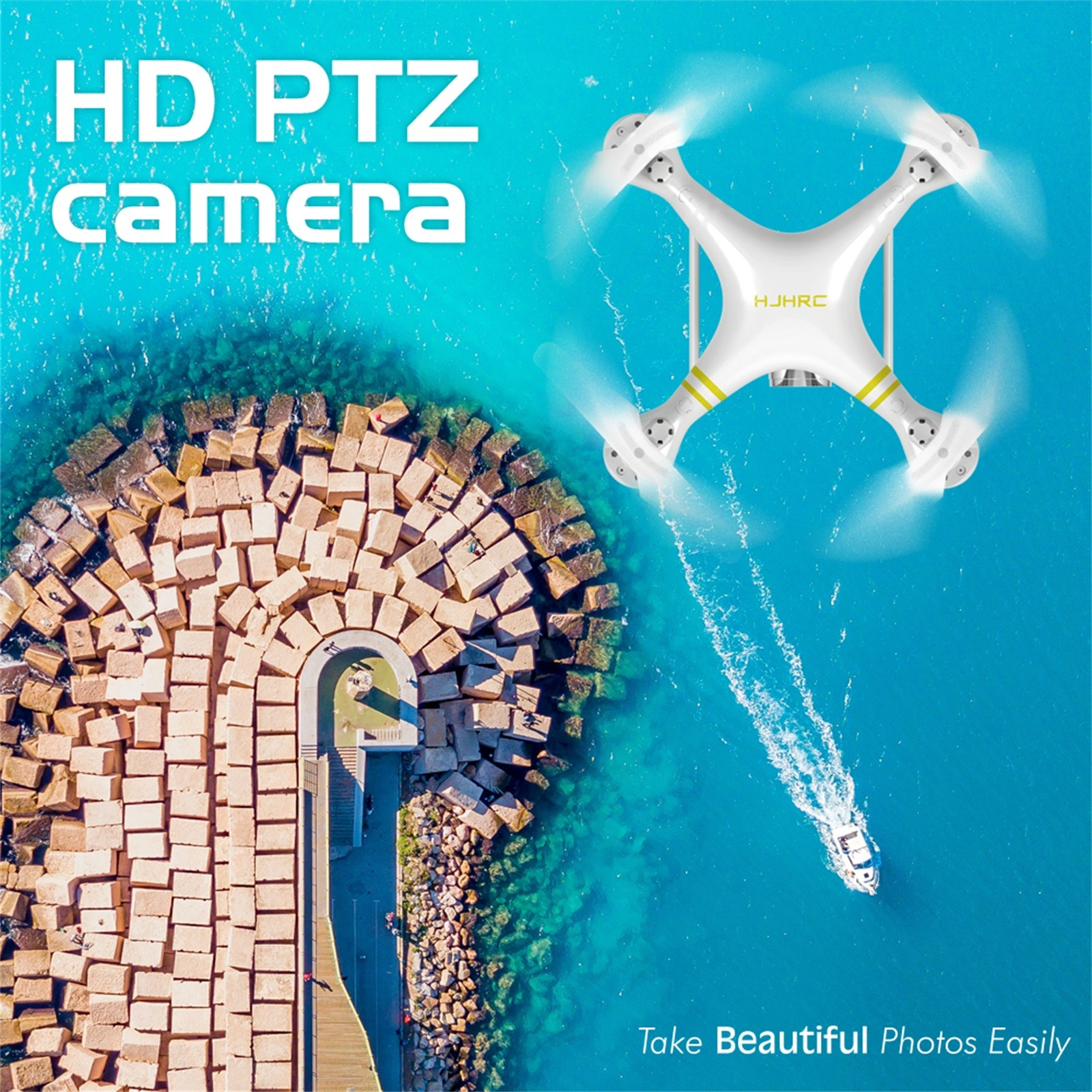 H4cea11f29fc04557a147d5191fae9901l - Hjhrc Four-axis Aerial Photography Aircraft Drone With Camera Hd 4k Wifi Fpv Foldable Drone Height Holding Headless Quadcopter