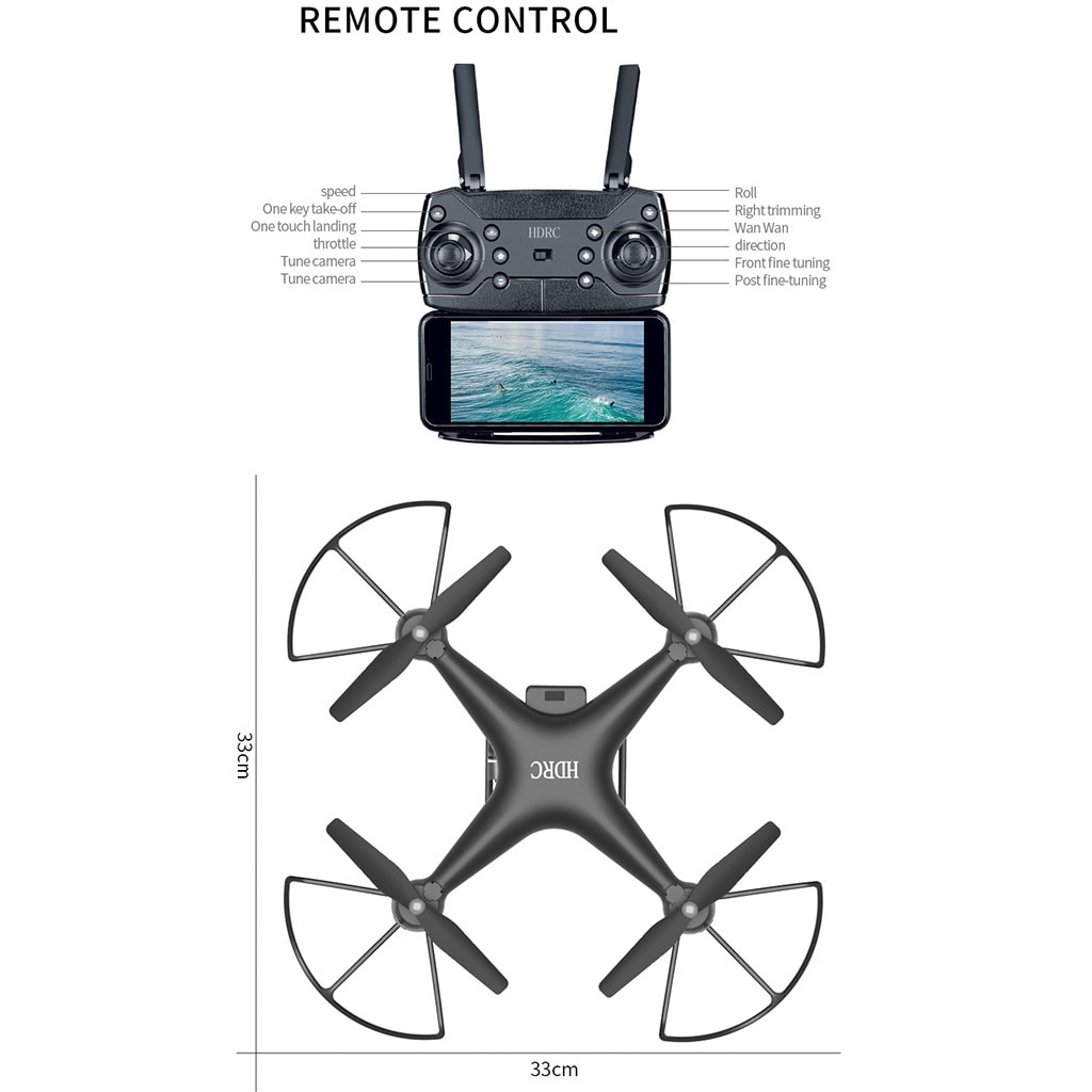 H52170e129dfb4f37a708093f3237d0001 - Rc Drone 2.4g Wifi Remote Control Rc Drone Airplane Selfie Quadcopter With 4k Hd Camera Drone 4k Aviones De Fotografía Aérea