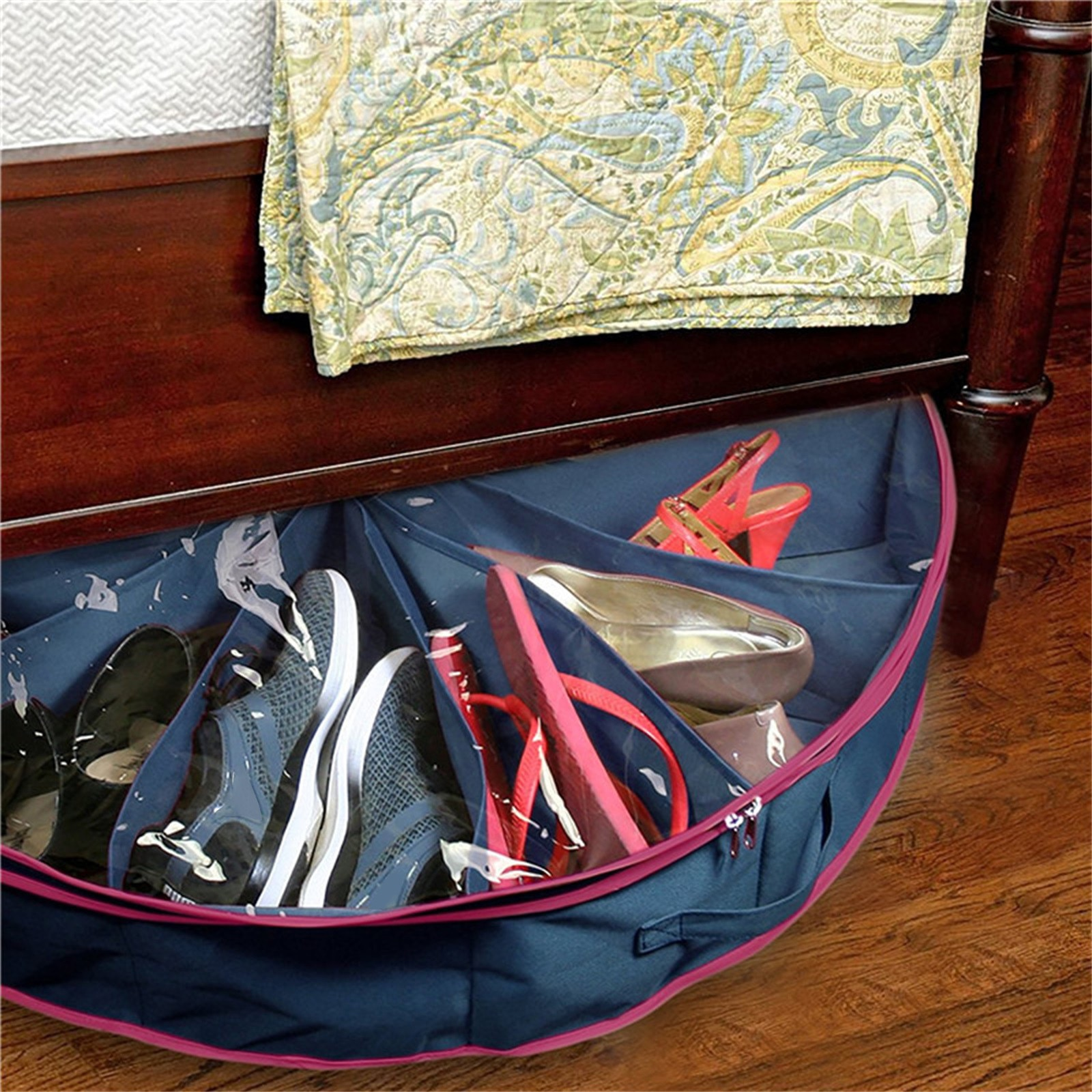 Home interior multifunctional storage box environmental protection storage bag foldable multi compartment home decoration sundry Manager