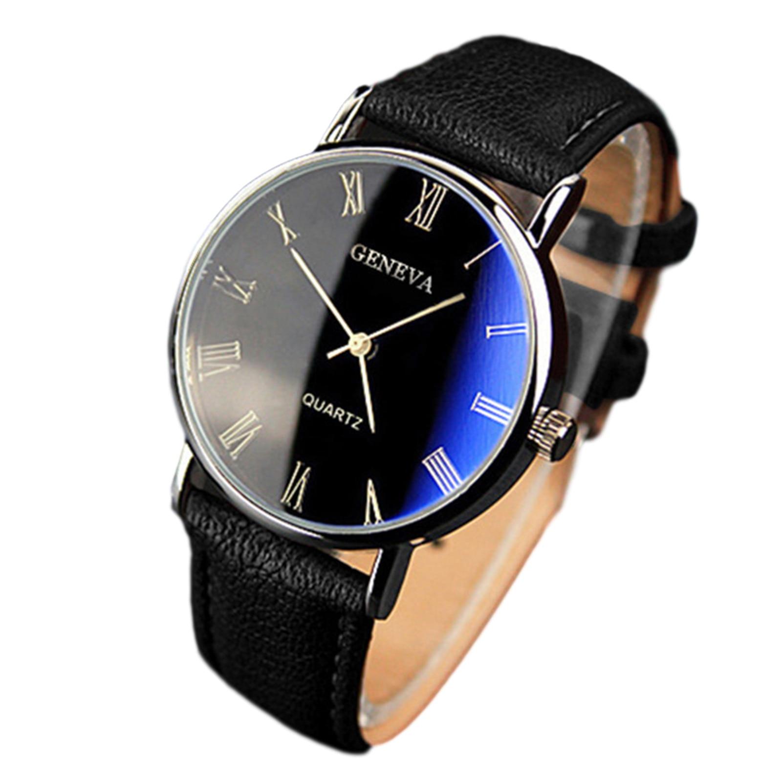 Reloj Mujer Leather Beautiful Quartz Watches Men's Watch D4