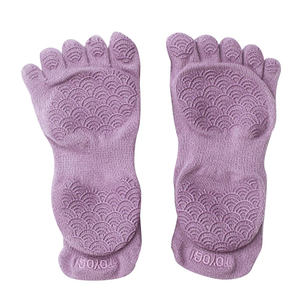 1 Pair Women Yoga Socks Half Toe Non-Slip Fitness Gym Sport Socks 5 Toes Toeless Yoga Socks Pilates Home Gym Exercise