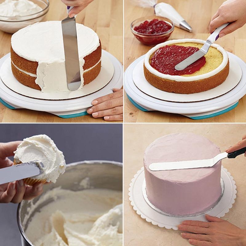 Manteiga de aço inoxidável bolo creme lâmina