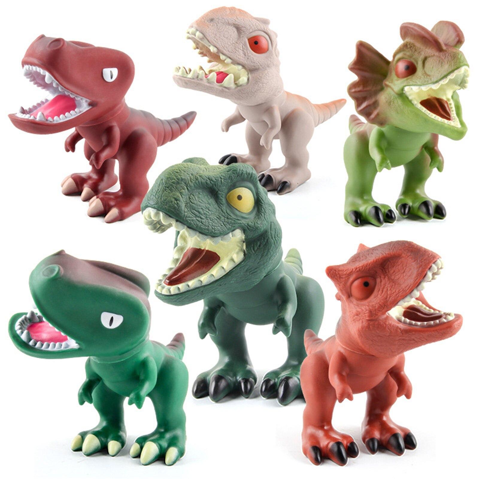 brinquedo realista dinossauro giratório de desenhos animados