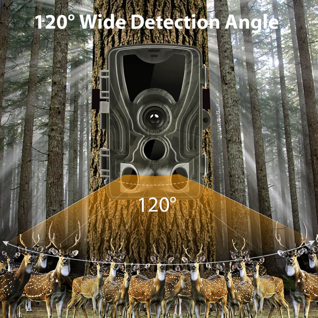 HC801-A 1080p hd 16mp caça câmera impermeável