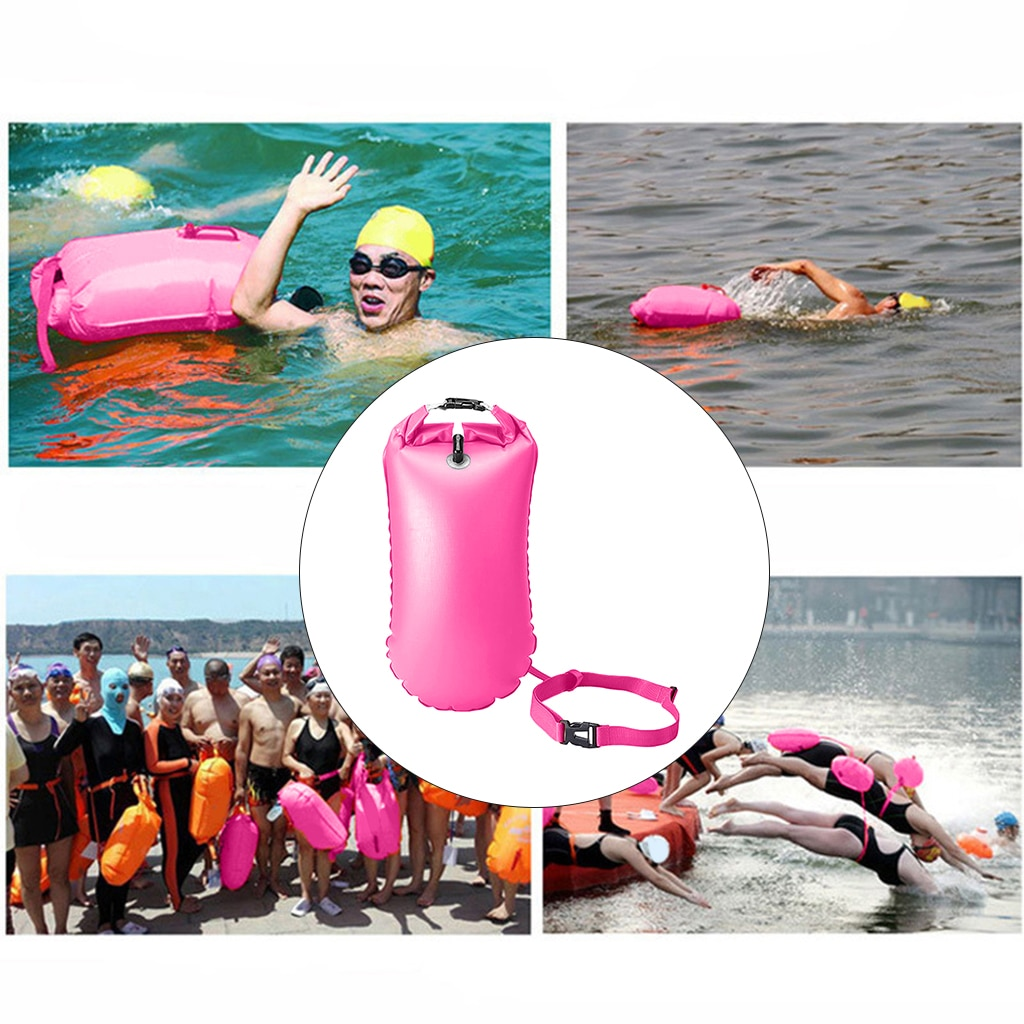 Safety Swimming Buoy Safety Air Dry Tow Bag Float Inflatable Safe Life Bag Waterproof Bag Device 20L 28L for Water Sports
