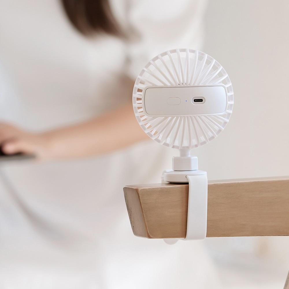ventilador portátil ajuste universal desktop escritório recarregável