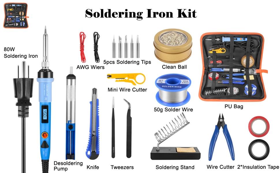 Kit de ferro de solda 80w lcd