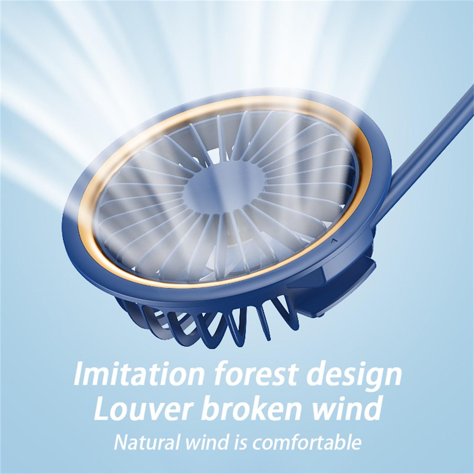 pescoço ventilador pendurado recarregável mini esportes ventilador