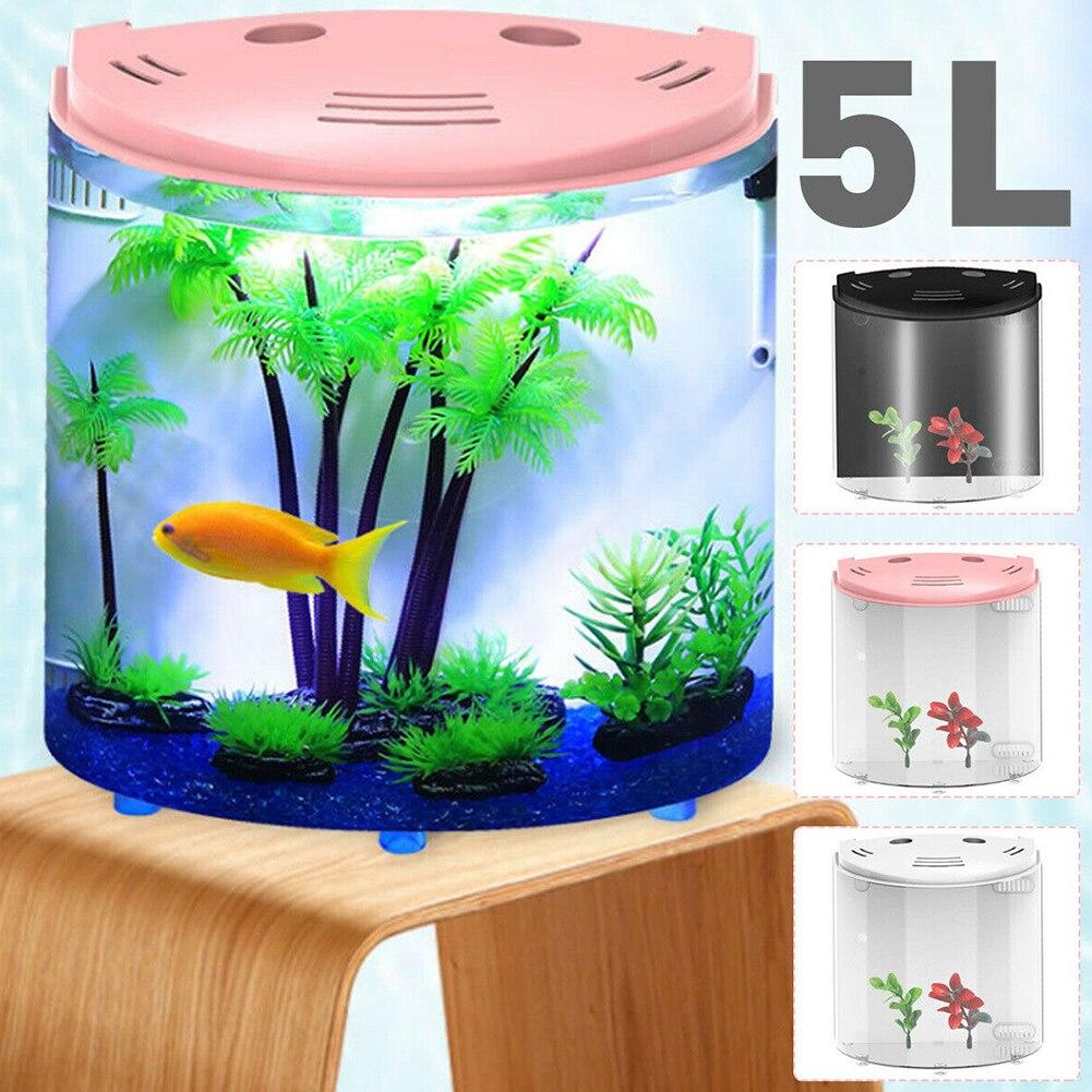 filtração mini aquário 180 graus aberto eletrônico acrílico claro