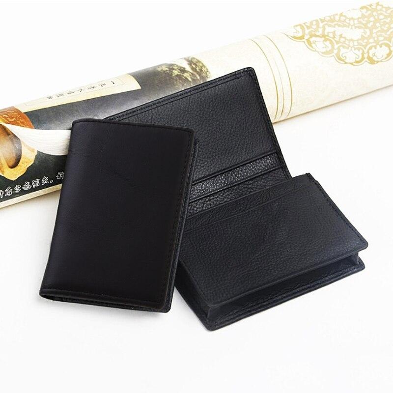 Homem couro preto expansível cartão de crédito