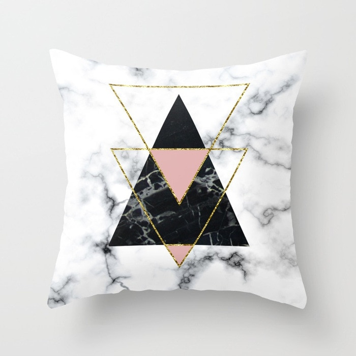 geo-glam-marble-pillows