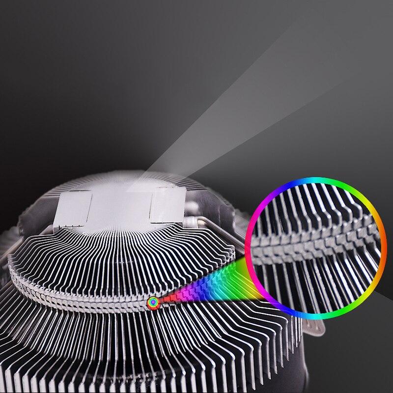 Cpu cooler silencioso baixo-perfil ventilador de refrigeração