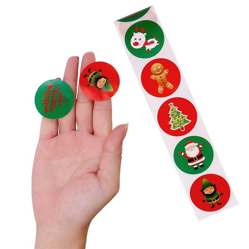 Adesivos de recompensa para decoração de natal,