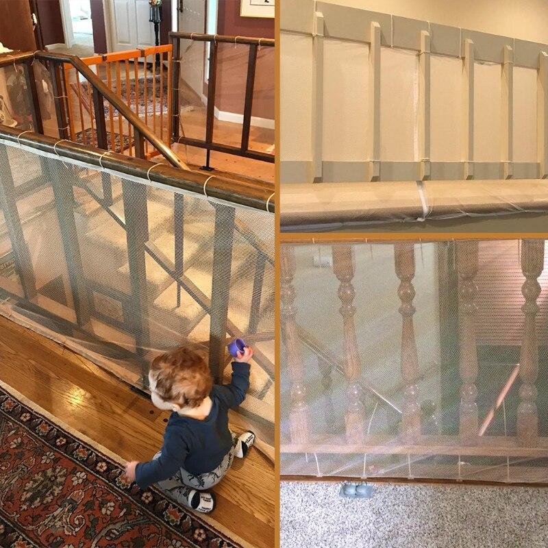 escadas engrossar ferroviário net criança proofing varanda