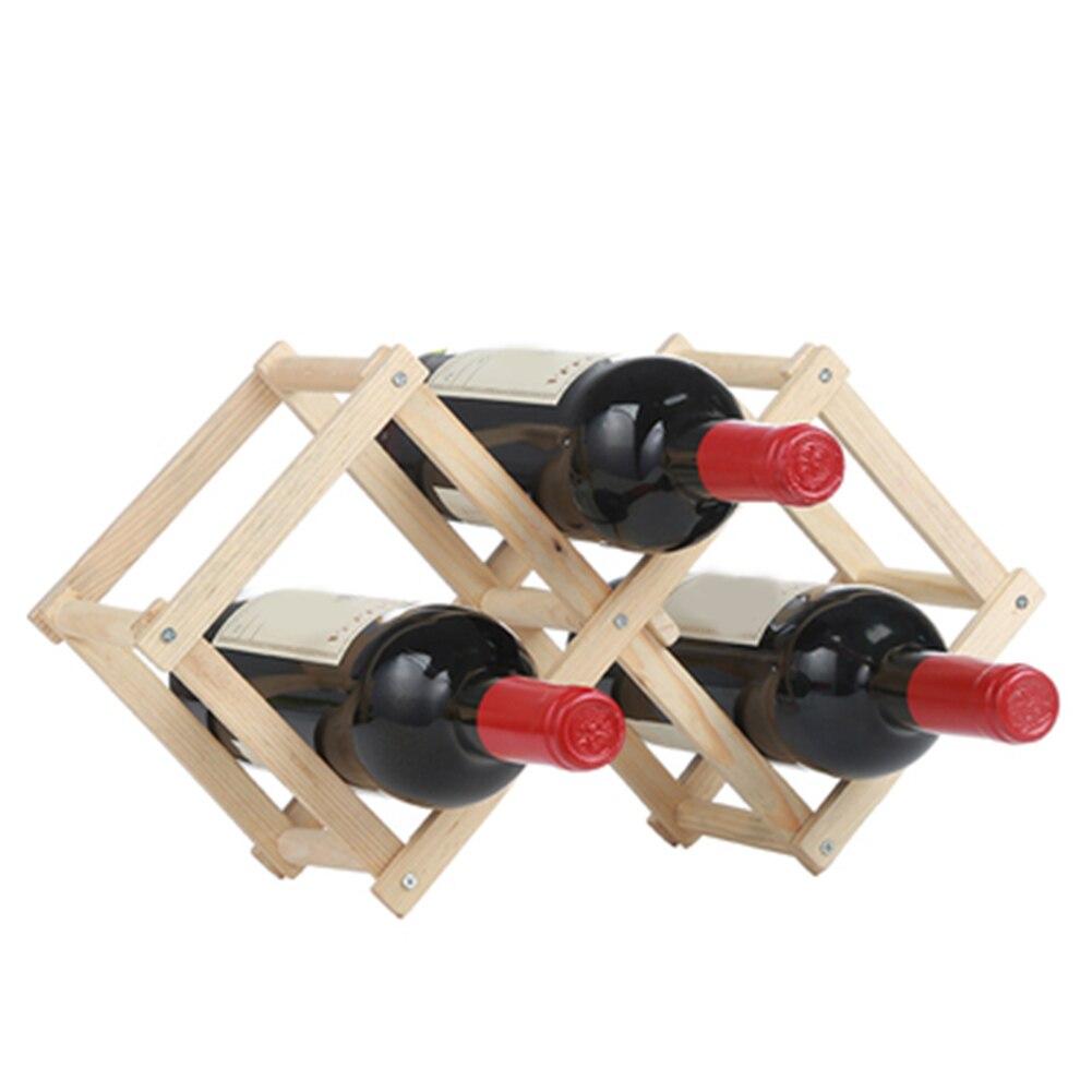 Suporte de garrafa de vinho de madeira
