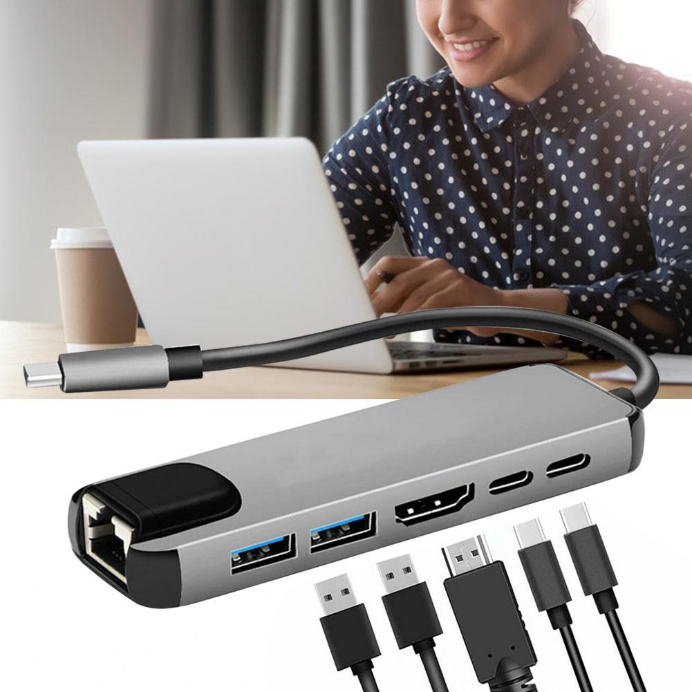 adaptador com 4k hdmi-compatível rj45 ethernet lan para nintendo switch portátil