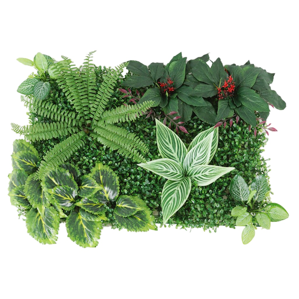 Artificial Hedge Indoor Outdoor Artificial Plants Flower Turf Lawn Topiary Greenery Wall Art Panels for Wedding Garden Yard