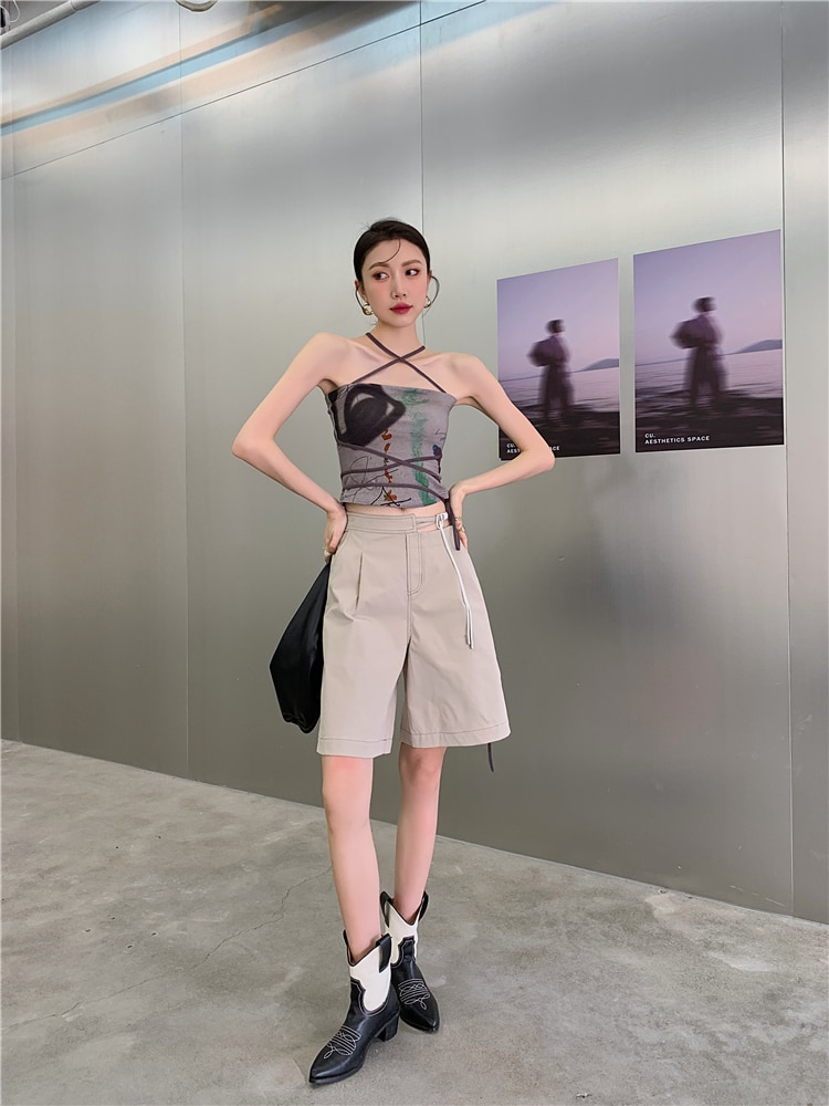 H780d402160a94f1aabc16e4a309163a6H - Summer Korean High Waist Cut Out Heart Loose Wide Leg Shorts