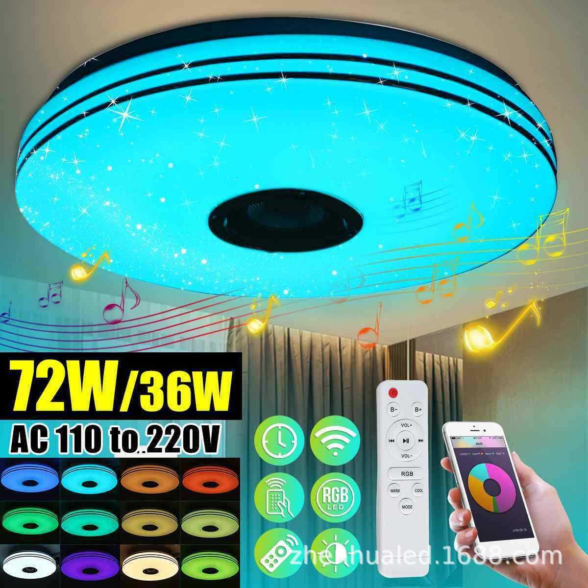 estar quarto teto controle aplicativo inteligente quente moderno rgb circular luz teto
