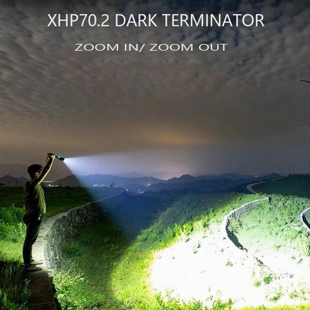 120000 lm poderosa lanterna led usb zoom