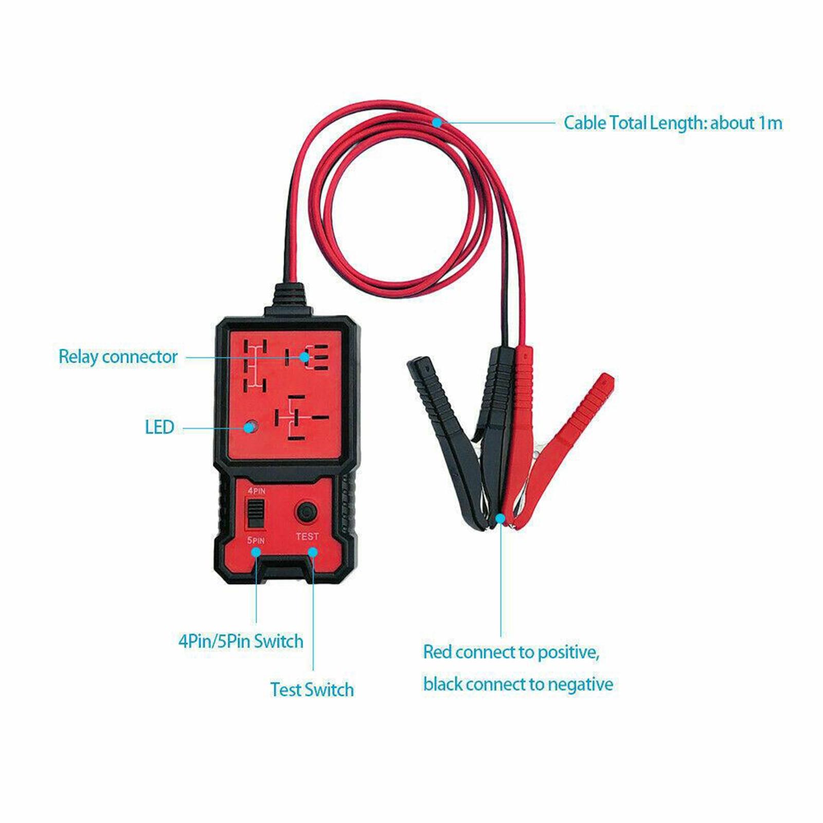 12V Plastic Electronic Automotive Relay Tester for Cars Auto Automotive Kit